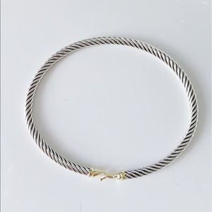 David YURMAN 3mm Cable Buckle Bracelet with Gold